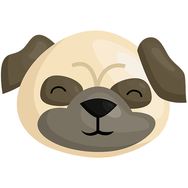 Pug Emoji & Stickers messages sticker-1