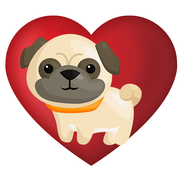Pug Emoji & Stickers messages sticker-8