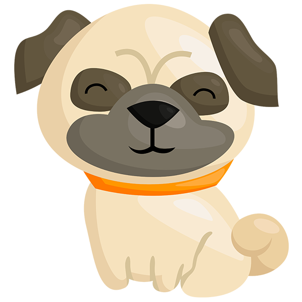 Pug Emoji & Stickers messages sticker-2