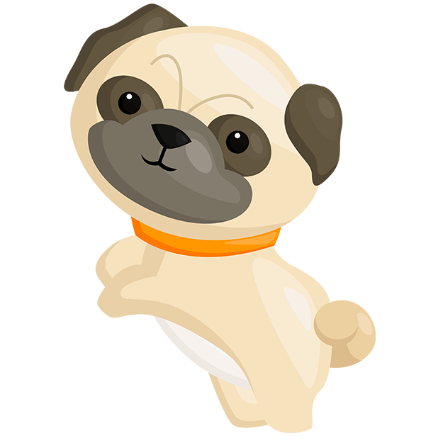 Pug Emoji & Stickers messages sticker-4