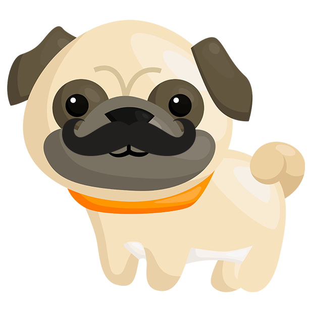 Pug Emoji & Stickers messages sticker-9