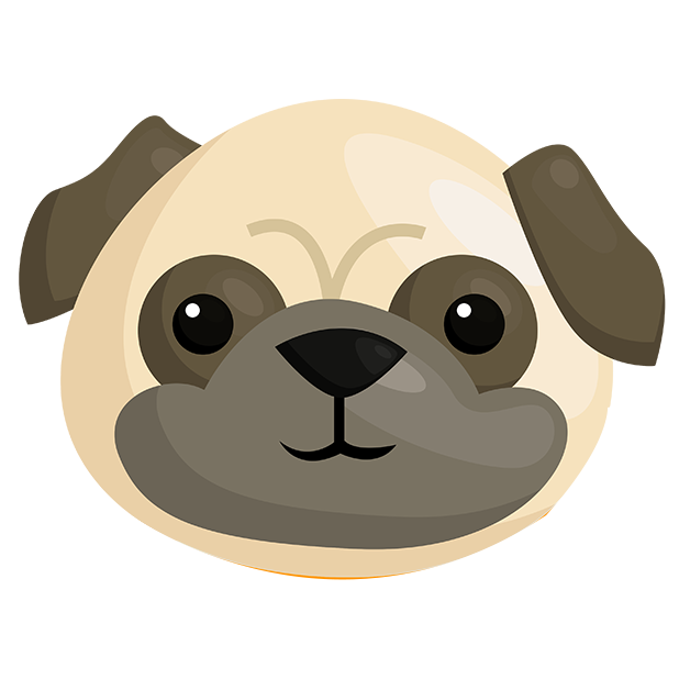 Pug Emoji & Stickers messages sticker-0