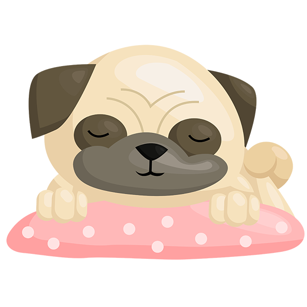 Pug Emoji & Stickers messages sticker-5