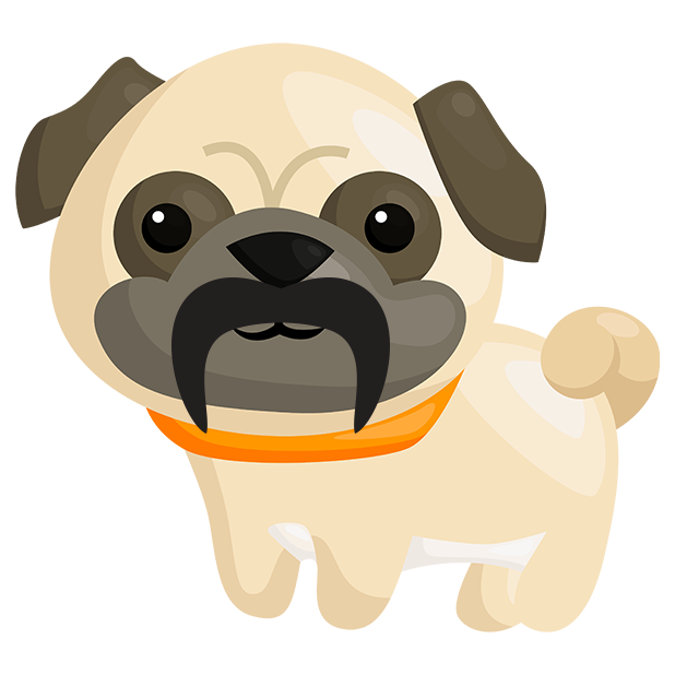 Pug Emoji & Stickers messages sticker-10