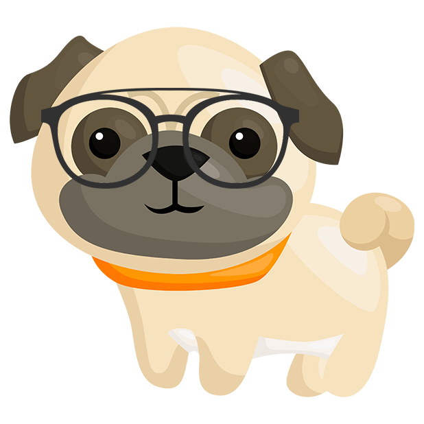 Pug Emoji & Stickers messages sticker-7