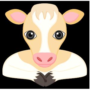 Blonde White Cow messages sticker-0