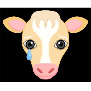 Blonde White Cow messages sticker-8