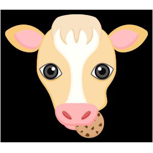 Blonde White Cow messages sticker-5