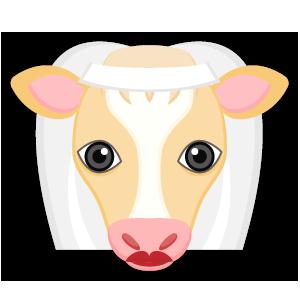 Blonde White Cow messages sticker-1