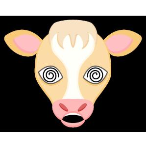 Blonde White Cow messages sticker-10