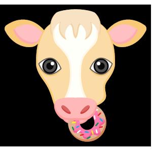 Blonde White Cow messages sticker-11