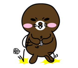 Lovely Brown Mole Stickers messages sticker-7