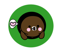 Lovely Brown Mole Stickers messages sticker-4