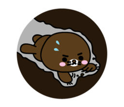 Lovely Brown Mole Stickers messages sticker-6