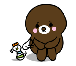 Lovely Brown Mole Stickers messages sticker-2