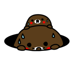 Lovely Brown Mole Stickers messages sticker-0