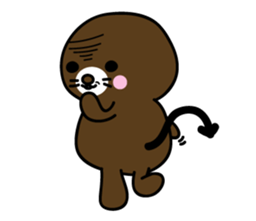 Lovely Brown Mole Stickers messages sticker-10