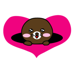 Lovely Brown Mole Stickers messages sticker-1