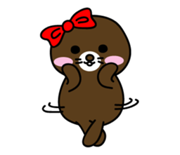Lovely Brown Mole Stickers messages sticker-5
