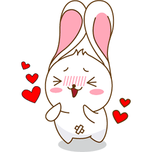 Red The Rabbit - Sticker Pack For iMessage messages sticker-0