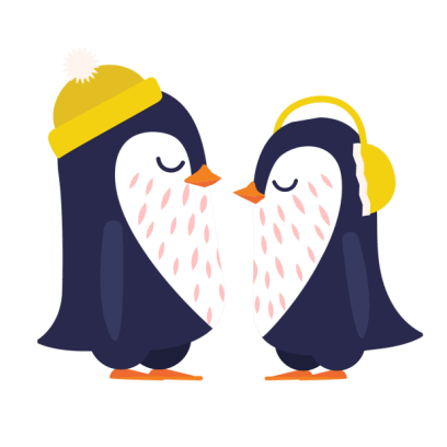 Love Penguins - Animated Pack for Valentines Day messages sticker-0