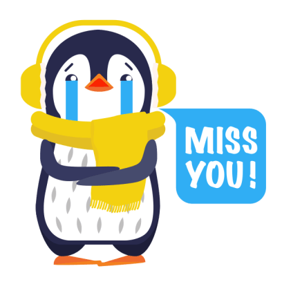 Love Penguins - Animated Pack for Valentines Day messages sticker-2