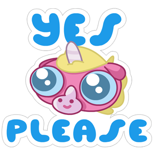 Jeff the Unicorn messages sticker-5