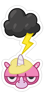 Jeff the Unicorn messages sticker-10