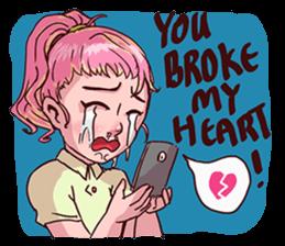 Valentine Of Single Women Stickers messages sticker-2