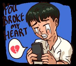 Valentine Of Single Men Stickers messages sticker-2