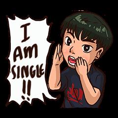 Valentine Of Single Men Stickers messages sticker-6