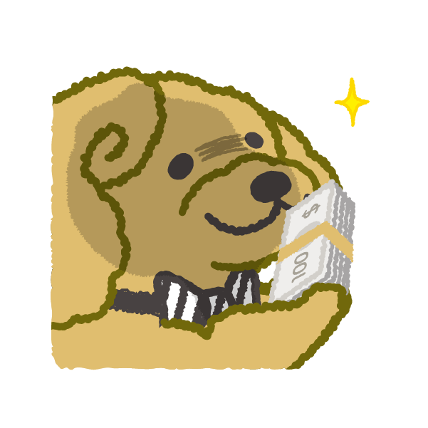 お金大好き!1ドル, 2ドル, プードルさん! messages sticker-5