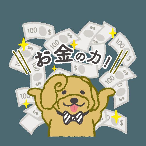 お金大好き!1ドル, 2ドル, プードルさん! messages sticker-1
