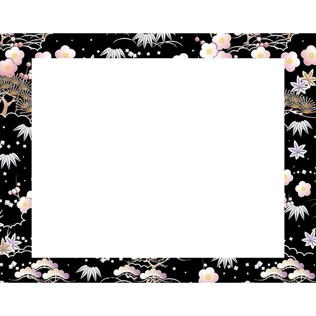 Japanese pattern frame sticker messages sticker-0