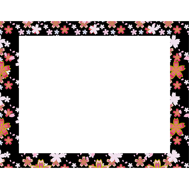 Japanese pattern frame sticker messages sticker-5