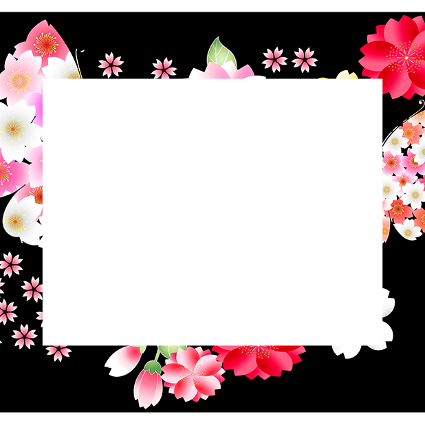 Japanese pattern frame sticker messages sticker-2