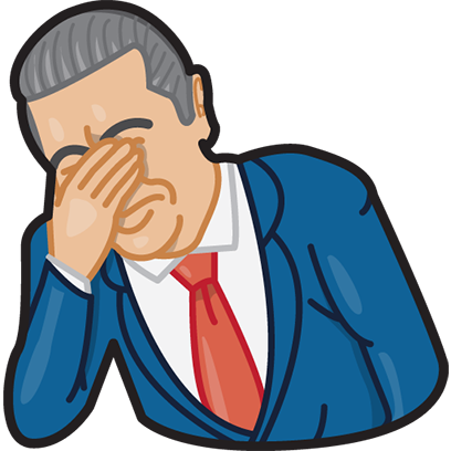 Facepalm stickers for iMessage by gudim messages sticker-0