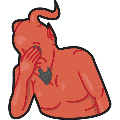 Facepalm stickers for iMessage by gudim messages sticker-9