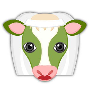 Saint Patrick's Day Cow Emoji Stickers messages sticker-1