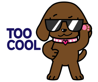 Miss Muddy Puppy Animated Stickers messages sticker-6