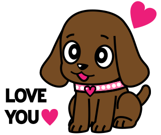 Miss Muddy Puppy Animated Stickers messages sticker-0