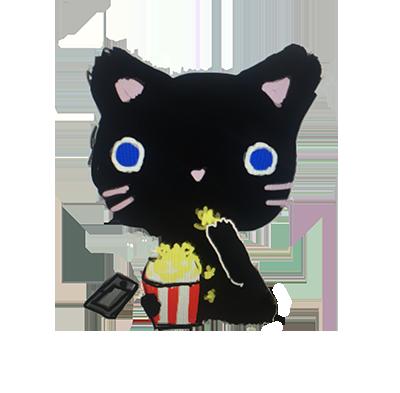 Hello Cat messages sticker-9