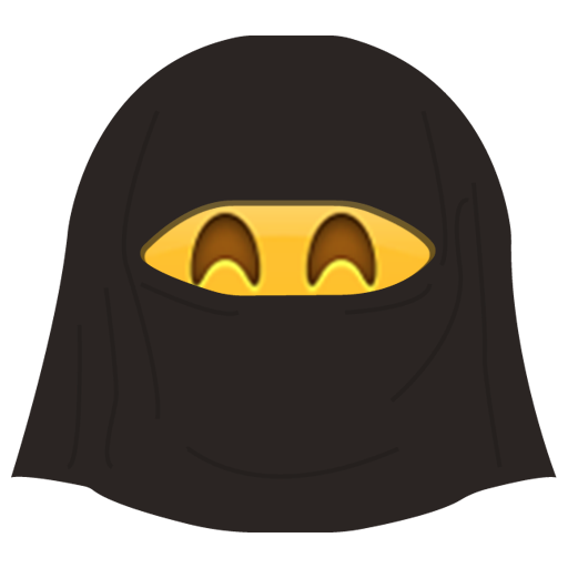 Burka Emoji messages sticker-0