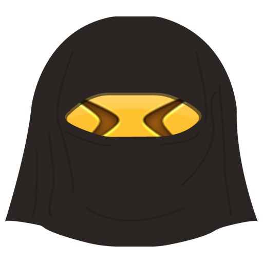 Burka Emoji messages sticker-8