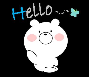Bear message messages sticker-2