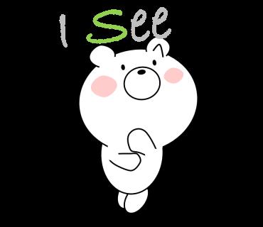 Bear message messages sticker-6