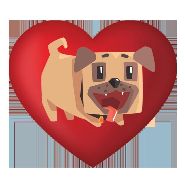 Pug Emoji And Stickers messages sticker-10