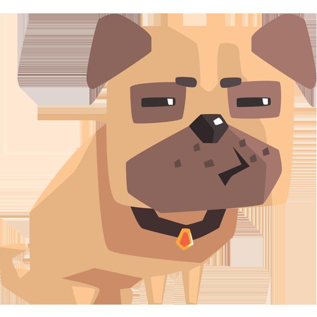Pug Emoji And Stickers messages sticker-11