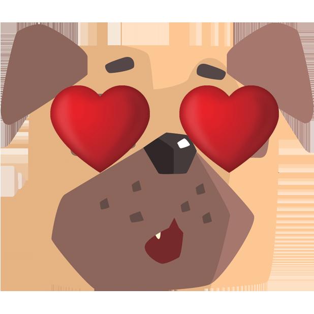 Pug Emoji And Stickers messages sticker-3