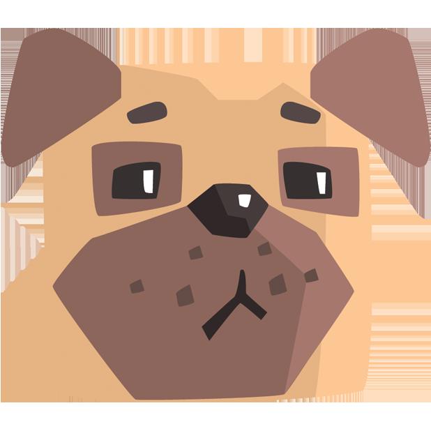 Pug Emoji And Stickers messages sticker-5